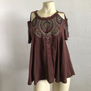 Free People Embroidered Festival Bohemian S